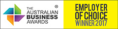 Logo of The Australian Business Awards Employer of Choice Winner 2017