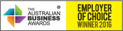 Logo of The Australian Business Awards Employer of Choice Winner 2016